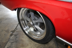Here is the Rocket Racing rim with Knock-offs