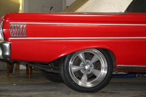 The 1964 Hedman Falcon with Rocket wheels and Toyo Tires