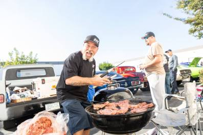 Grill Master Steven Migliore and his son prepared some tacos for all to enjoy.